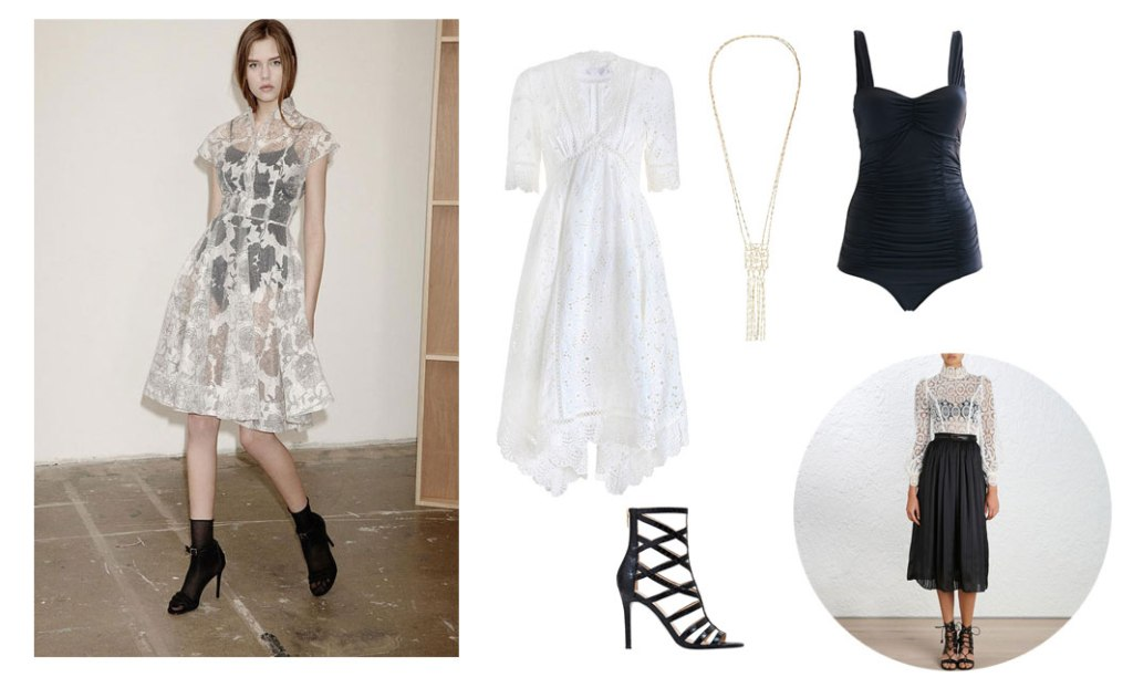 mother + daughter lace, broderie + sandals this spring
