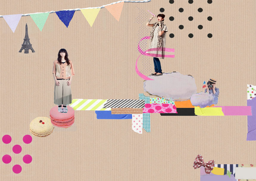 Kawaii Pop collage by Jenna Templeton