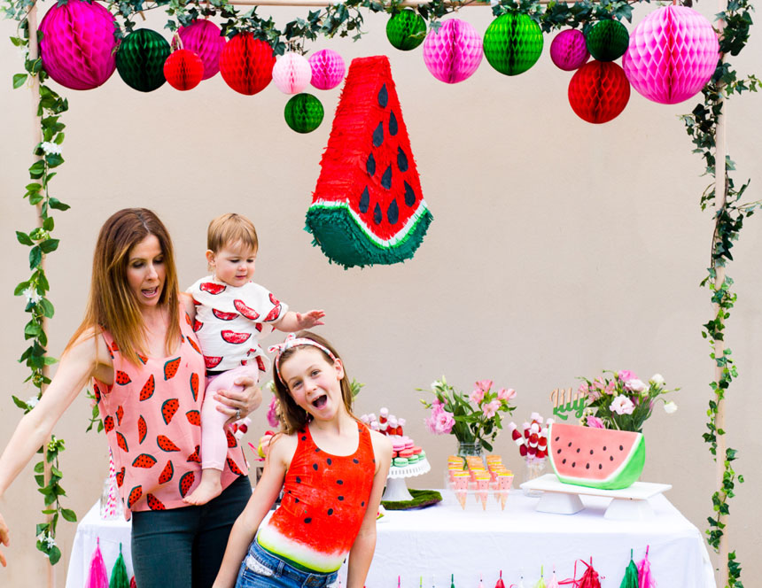 Lily's 9th Watermelon Party on www.childmagsblog.com
