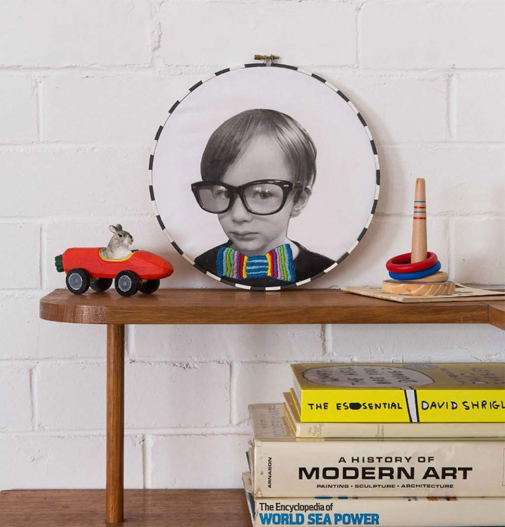 DIY: Hooped Hipster Portrait on www.childmagsblog.com
