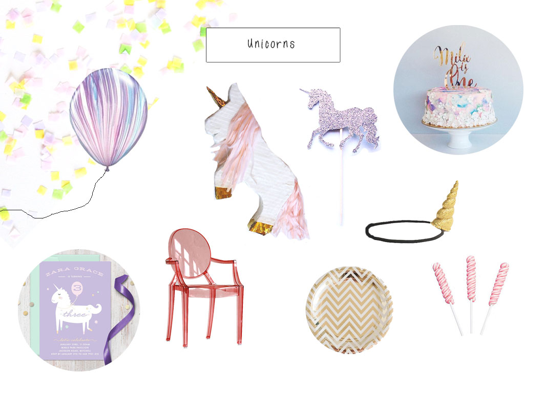 Kids Unicorn party on child mags blog