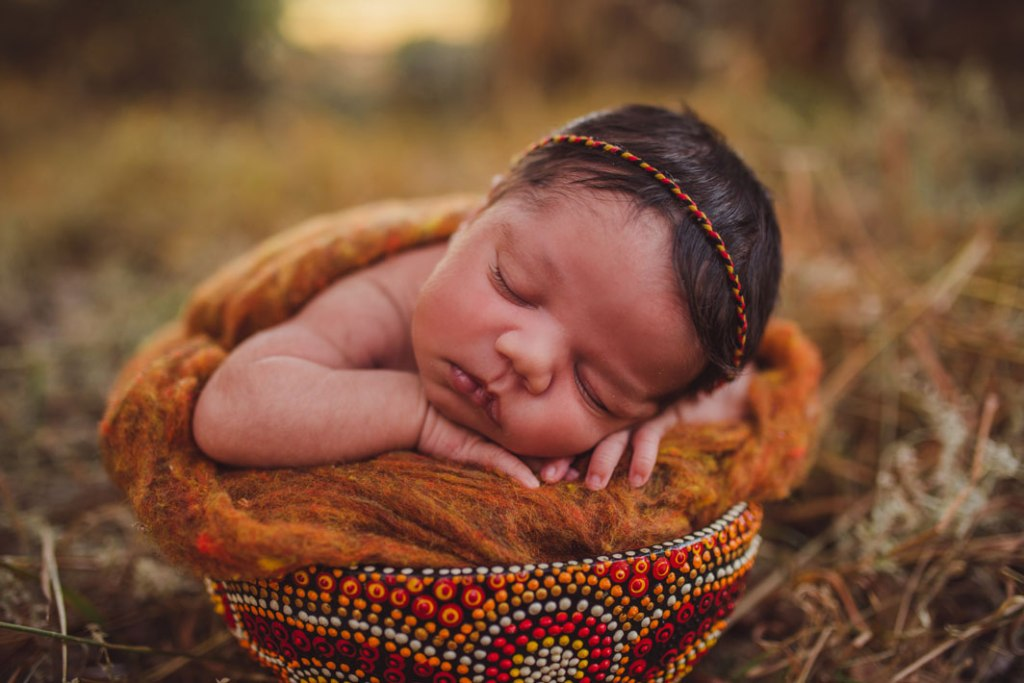 adorable aboriginal newborn art
