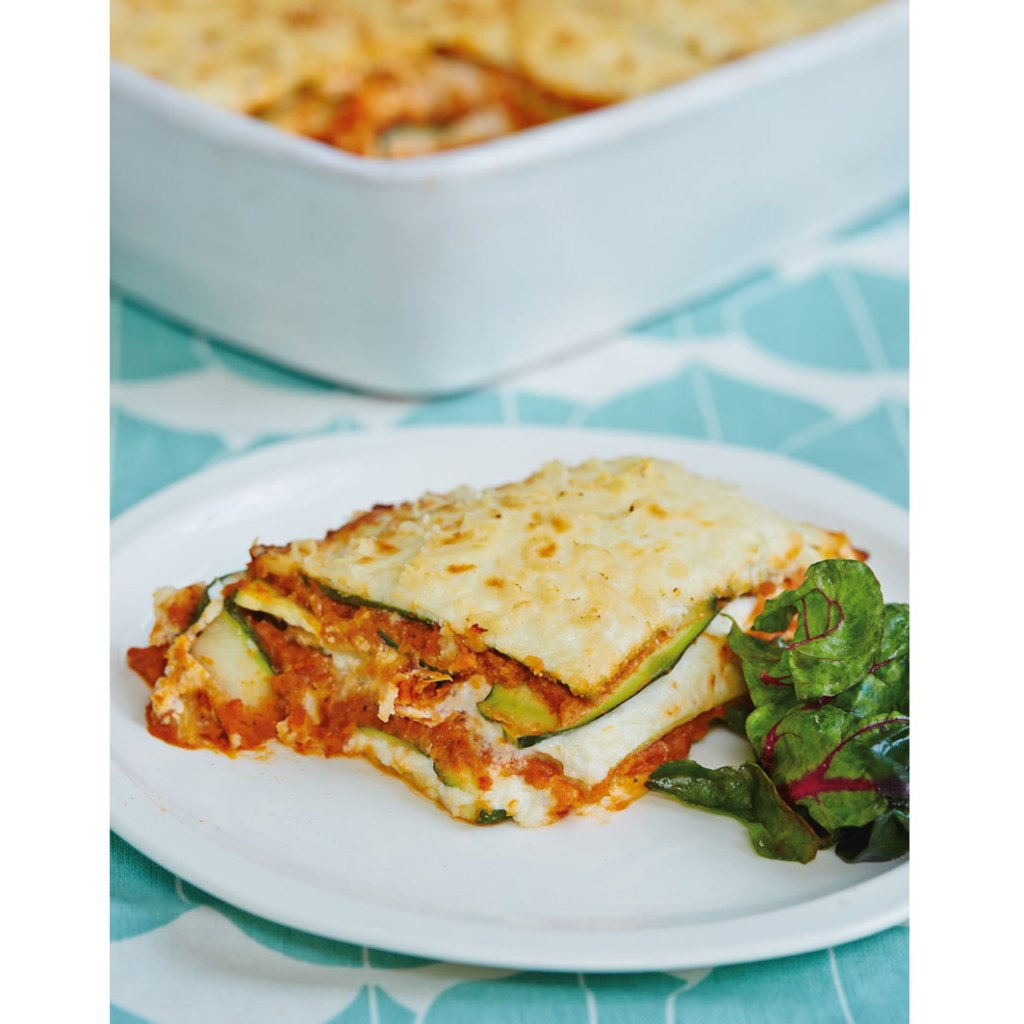 zucchini and cannellini bean lasagne