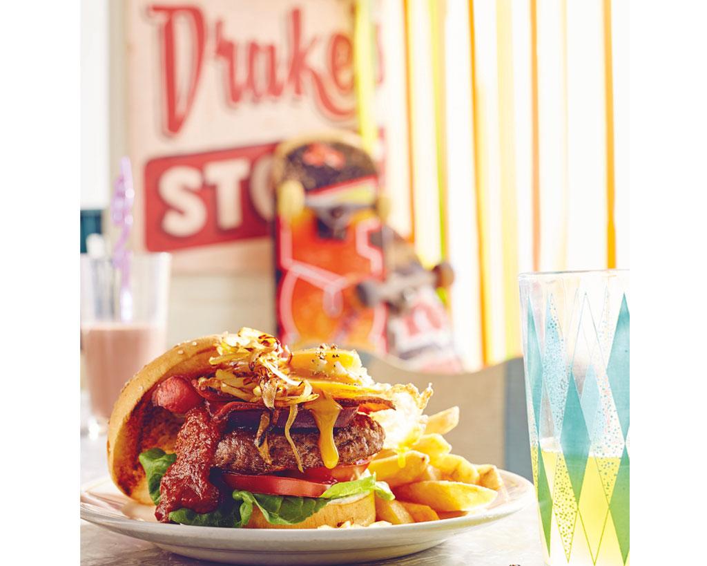 milkbar memories + beef burger with 'the lot'