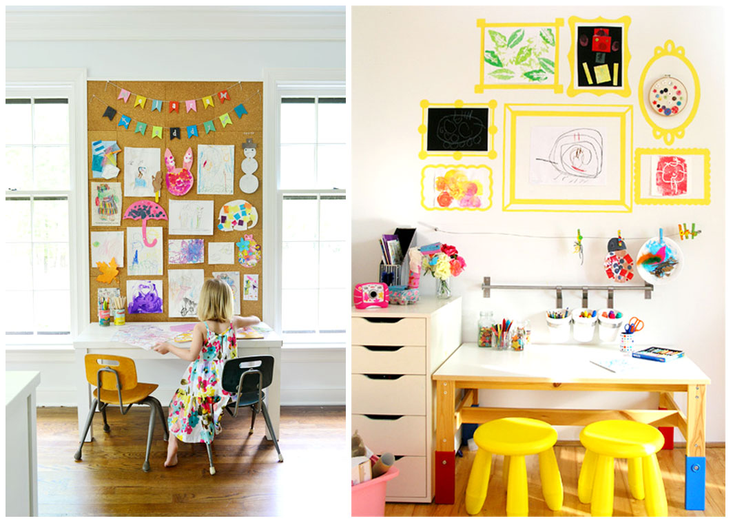 How to make a kids craft corner