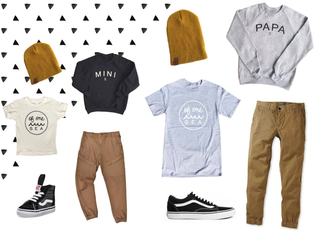 Matching dad and son outfits - aussie fashion