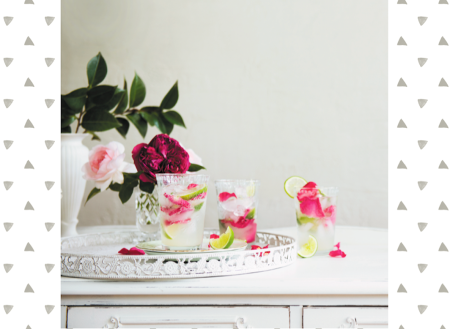 ROSE AND LIME SPRITZERS recipe