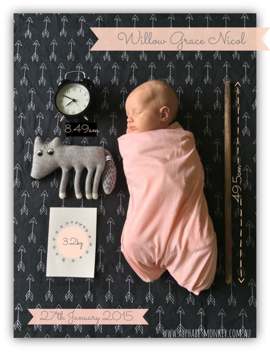 10 DIY baby announcements on child mags blog