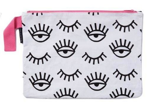 Black Winking Eye Zip Pouch - Project ten