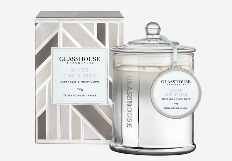 GLASSHOUSE CEDAR LEAF & FRUITY CLOVE Candle