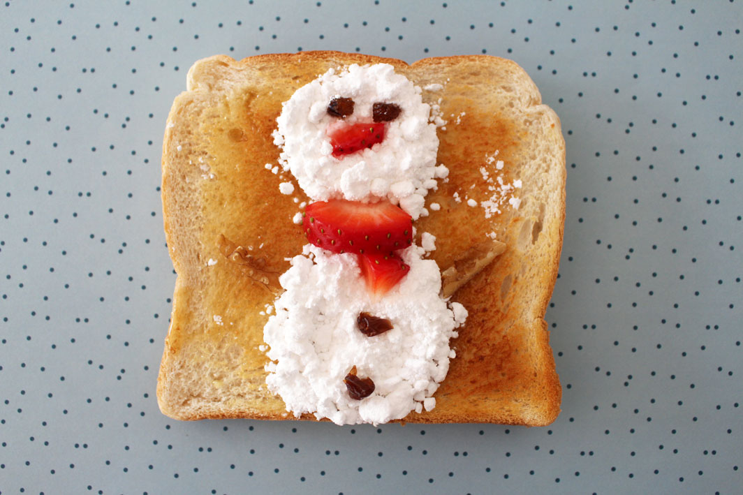 Frozen's Olaf Toast art on child mags blog