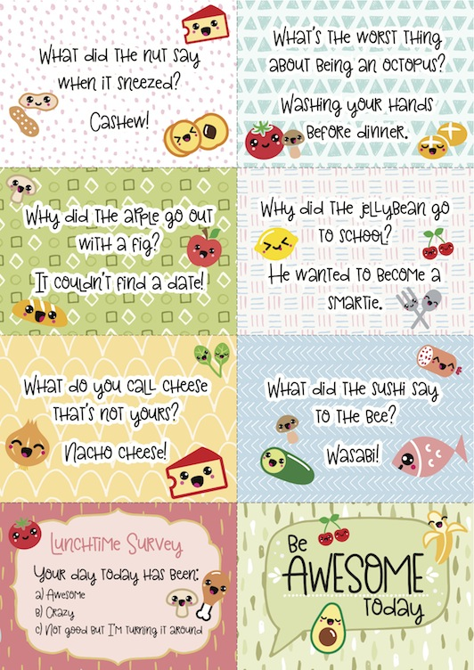 free printable super-kawaii cute lunch box note