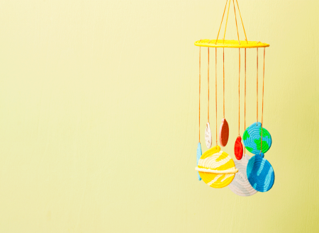 diy planet mobile for baby on child mags blog