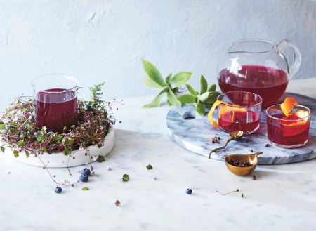 wintry beet kvass with orange + cloves on child mags blog